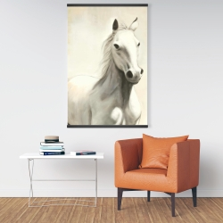 Magnetic 28 x 42 - Gallant white horse