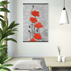 Magnetic 28 x 42 - Big red flowers