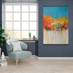 Magnetic 28 x 42 - Colorful abstract small flowers