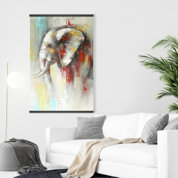 Magnetic 28 x 42 - Abstract paint splash elephant