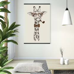 Magnetic 28 x 42 - Funny giraffe with a pipe
