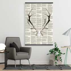 Magnetic 28 x 42 - Deer horns on newspaper