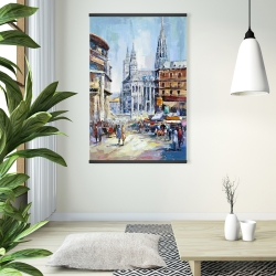 Magnetic 28 x 42 - Busy street by a sunny day