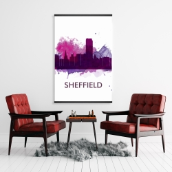 Magnetic 28 x 42 - Sheffield city color splash silhouette