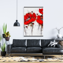 Magnetic 28 x 42 - Red poppies with texture