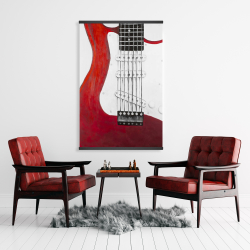 Magnetic 28 x 42 - Red electric guitar