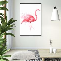 Magnetic 28 x 42 - Pink flamingo watercolor