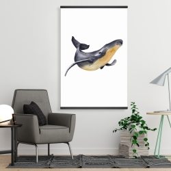 Magnetic 28 x 42 - Watercolor blue whale