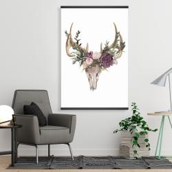 Magnetic 28 x 42 - Deer skull with flowers