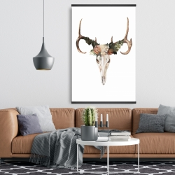Magnetic 28 x 42 - Deer skull with roses