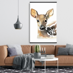 Magnetic 28 x 42 - Watercolor fawn face