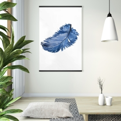 Magnetic 28 x 42 - Watercolor blue feather