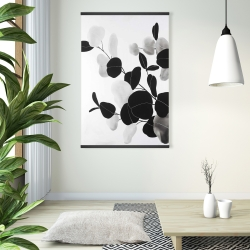 Magnetic 28 x 42 - Grayscale branches with leaves