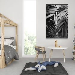 Magnetic 28 x 42 - Monochrome tropicals leaves