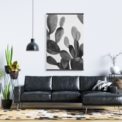 Magnetic 28 x 42 - Grayscale cactus