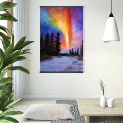 Magnetic 28 x 42 - Aurora borealis in the forest
