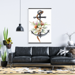 Magnetic 28 x 42 - Anchor with flowers