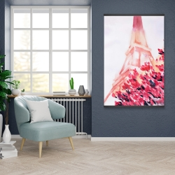 Magnetic 28 x 42 - Pink eiffel tower
