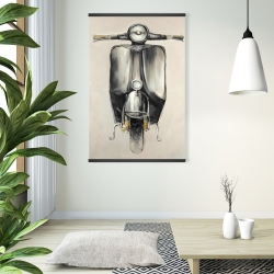 Magnetic 28 x 42 - Small black moped