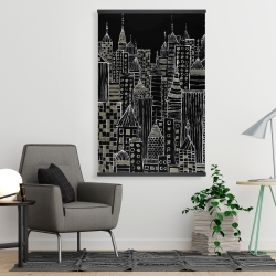 Magnetic 28 x 42 - Illustrative city towers
