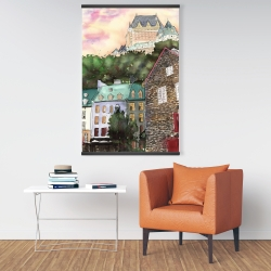 Magnetic 28 x 42 - Château frontenac in the petit champlain