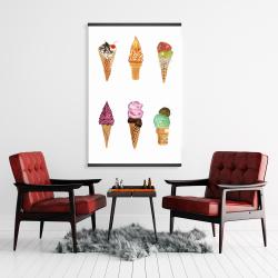 Magnetic 28 x 42 - Ice cream cones
