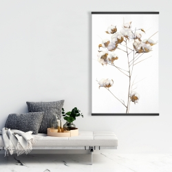 Magnetic 28 x 42 - Cotton flowers branch