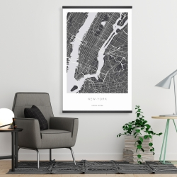 Magnetic 28 x 42 - New york graphic map