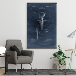 Magnetic 28 x 42 - Blueprint of golf tee