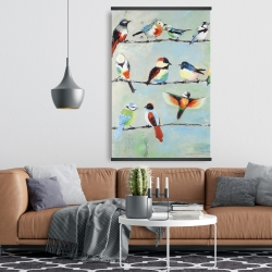 Magnetic 28 x 42 - Small abstract colorful birds