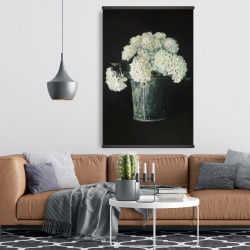 Magnetic 28 x 42 - White hydrangea flowers