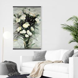 Magnetic 28 x 42 - Lisianthus white bouquet