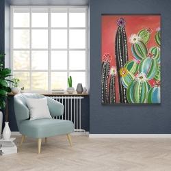 Magnetic 28 x 42 - Rainbow cactus