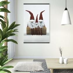 Magnetic 28 x 42 - Three christmas gnomes
