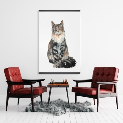 Magnetic 28 x 42 - Norwegian forest cat