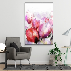 Magnetic 28 x 42 - Abstract blurry tulips