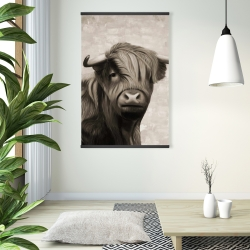 Magnetic 28 x 42 - Highland cattle sepia