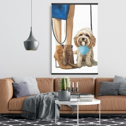 Magnetic 28 x 42 - Fashionable cavoodle dog