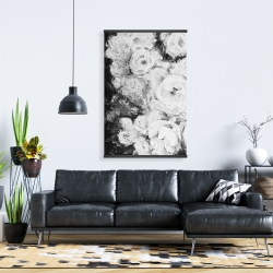 Magnetic 28 x 42 - Monochrome rose garden