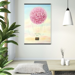 Magnetic 28 x 42 - Hot air balloon hydrangea flowers