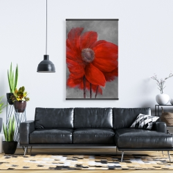 Magnetic 28 x 42 - Red flower in the wind