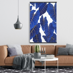 Magnetic 28 x 42 - Tropical abstract blue leaves