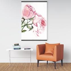 Magnetic 28 x 42 - Watercolor pink roses