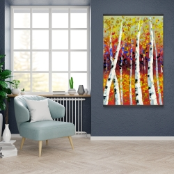 Magnetic 28 x 42 - Colored birches