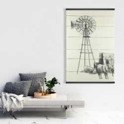 Magnetic 28 x 42 - Vintage old texas windmill