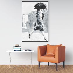 Magnetic 28 x 42 - Woman in the rain