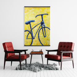 Magnetic 28 x 42 - Blue bike abstract