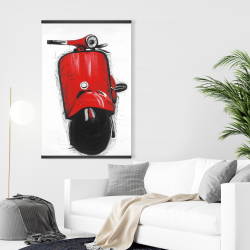 Magnetic 28 x 42 - Red italian scooter