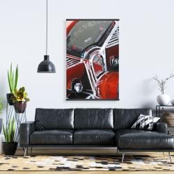 Magnetic 28 x 42 - Vintage red car dashboard