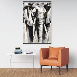 Magnetic 28 x 42 - Grayscale elephant